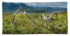 Antlers On The Hill Beach Sheet by Andrew Matwijec