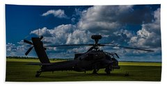 Apache Gun Ship Beach Towel by Martin Newman