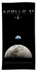 Apollo 11 First Man On The Moon Beach Towel