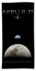 Apollo 11 First Man On The Moon Beach Sheet