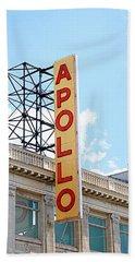 Apollo Theater Sign Beach Sheet