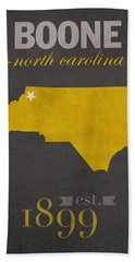 Appalachian State University Mountaineers Boone Nc College Town State Map Poster Series No 010 Beach Towel