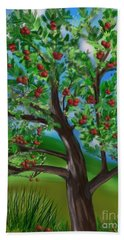 Apple Acres Beach Towel by Christine Fournier