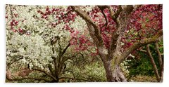 Apple Blossom Colors Beach Towel by Joe Mamer