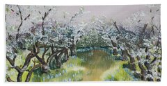 Apple Blossoms In Ellijay -apple Trees - Blooming Beach Sheet
