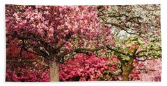 Apple Blossoms Beach Sheet by Joe Mamer
