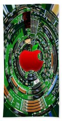 Apple Computer Abstract Beach Towel by Sandi OReilly