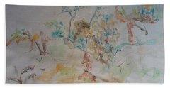 Apple Orchard Beach Sheet by Esther Newman-Cohen