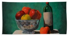 Apples And Wine Beach Towel