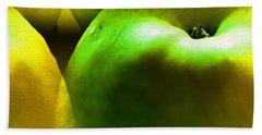 Beach Sheet featuring the digital art Apples by Daniel Janda