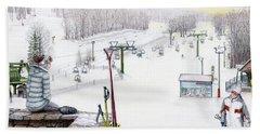 Apres-ski At Hidden Valley Beach Sheet