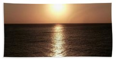 Beach Towel featuring the photograph April Sunset by Amar Sheow
