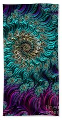 Aqua Swirl Beach Towel by Steve Purnell