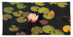 Aquatic Garden With Water Lily Beach Towel
