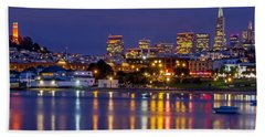 Aquatic Park Blue Hour Beach Towel by Kate Brown