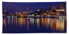 Aquatic Park Blue Hour Wide View Beach Towel by Kate Brown