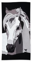 Arabian Horse With Hidden Picture Beach Towel