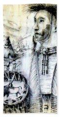 Arapaho Cheyenne Beach Sheet by Bernadette Krupa