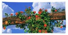 Arbor And Spreading Rose, Temecula Beach Towel