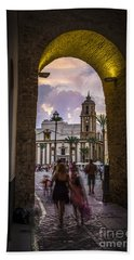 Arc Of The Rose Cadiz Spain Beach Sheet