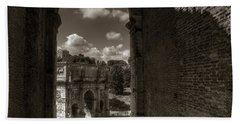 Arch Of Constantine From The Colosseum Beach Sheet