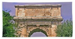 Arch Of Titus Beach Towel