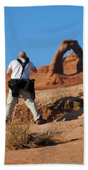 Beach Sheet featuring the photograph Arches Np 27 by Jeff Brunton