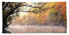 Beach Towel featuring the photograph Arching Tree On The Current River by Marty Koch