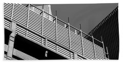 Architectural Lines Black White Beach Towel