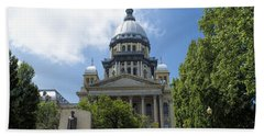 Illinois State Capitol  - Luther Fine Art Beach Towel