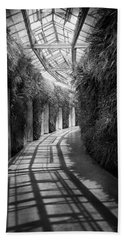 Architecture - The Unchosen Path - Bw Beach Towel