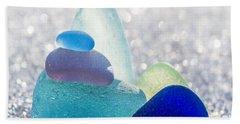 Arctic Peaks Beach Towel by Barbara McMahon