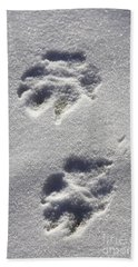 Arctic Wolf Tracks Beach Towel