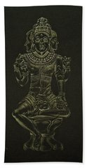Ardhanarishvara I Beach Towel by Michele Myers