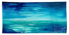 Beach Towel featuring the painting Are We There Yet? by Tatiana Iliina