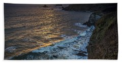 Ares Estuary Mouth Galicia Spain Beach Towel