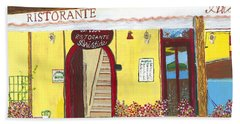 Aristede In Cinque Terra Beach Towel