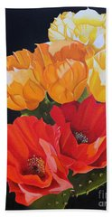 Arizona Blossoms - Prickly Pear Beach Towel