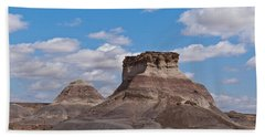 Beach Towel featuring the photograph Arizona Desert And Mesa by Jeff Goulden