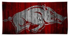 Arkansas Razorbacks Barn Door Beach Towel by Dan Sproul