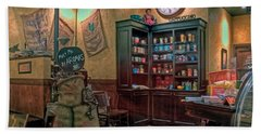 Beach Towel featuring the photograph Aromas Coffee Shop Newport News Virginia by Jerry Gammon