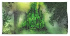 Arrival To Oz Beach Towel by Mo T
