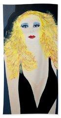 Art Deco Girl With Black Hat Beach Towel