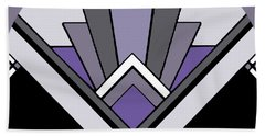 Art Deco Pattern Two - Purple Beach Sheet