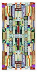 Art Deco Stained Glass 2 Beach Towel