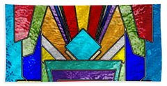 Art Deco - Stained Glass 6 Beach Sheet