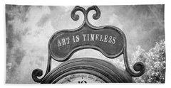 Art Is Timeless Beach Sheet