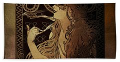 Art Nouveau Job - Masquerade Beach Towel