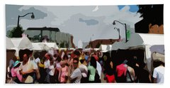 Art On The Square - Belleville Illinois Beach Towel