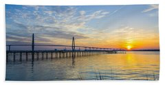 Beach Towel featuring the photograph Calm Waters Over Charleston Sc by Dale Powell